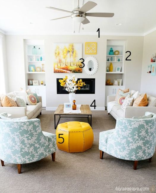 Hiya Papaya living room inspiration numbered