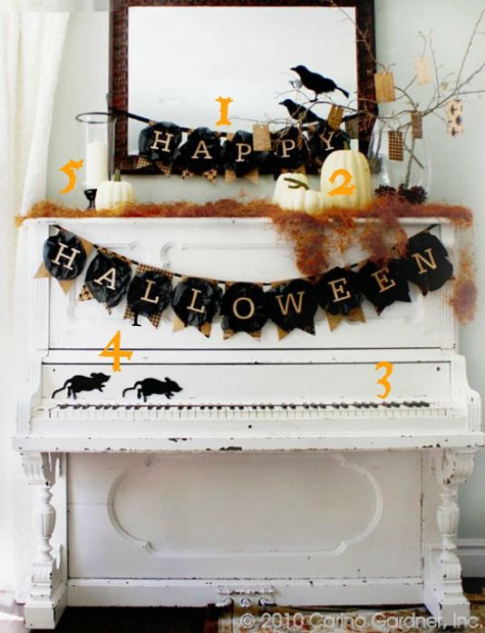 Halloween Piano Vignette Numbered