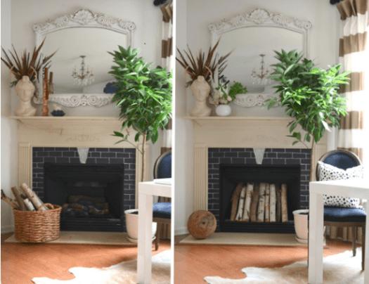 The Nester fireplace decor