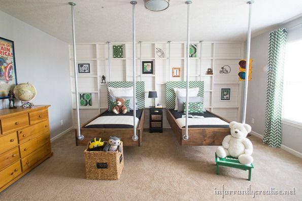 green boys bedroom decor