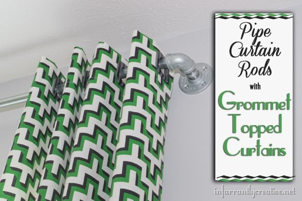 Grommet Topped Curtains And Pipe Curtain Rods Infarrantly Creative