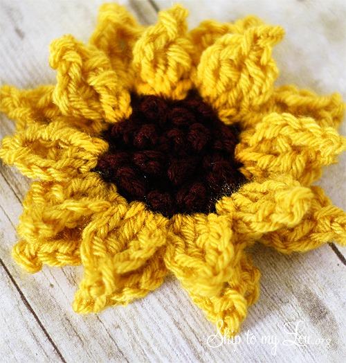 Crochet Sunflower Kansas