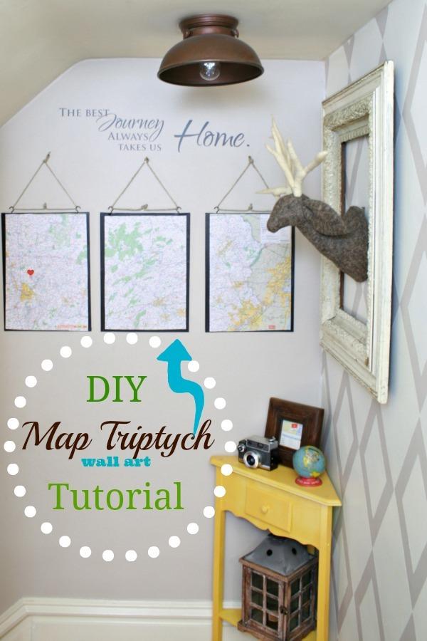 DIY Map Triptych Pennsylvania