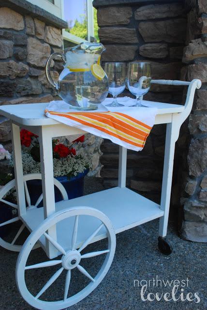 Northwest Lovelies tea cart