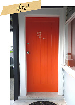 Odd One Out orange door