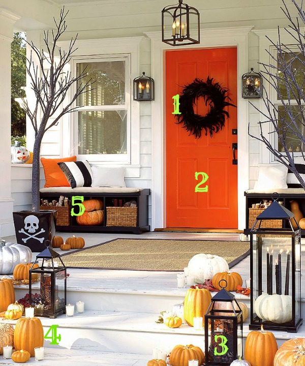 Pottery Barn Halloween Porch Inspiration Numbered