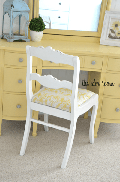 The Idea Room yellow vanity