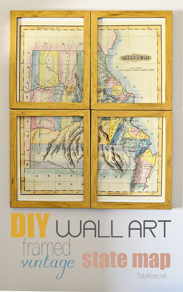 DIY Wall Art Missouri Map