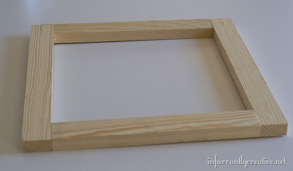 framing a canvas