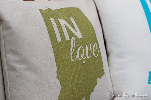 green indiana pillow