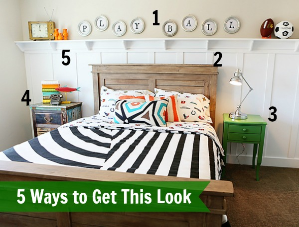 Hiya Papaya boys bedroom inspiration numbered