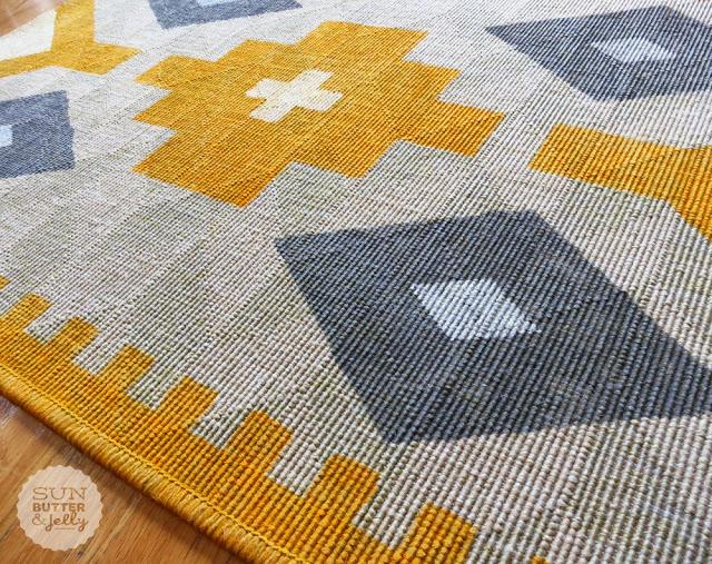 Sunbutter & Jelly diy kilim rug