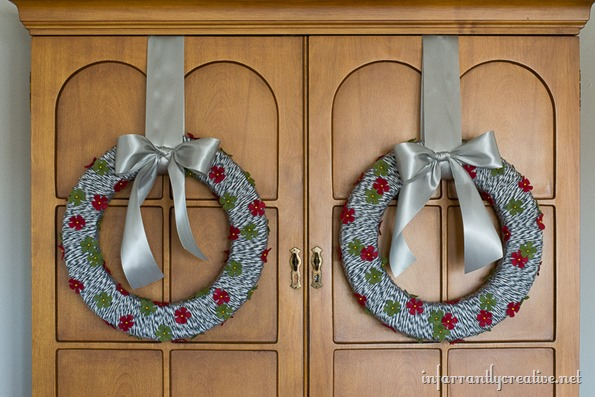christmas floral wreath