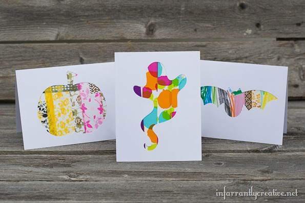 halloween cut out greeting cards