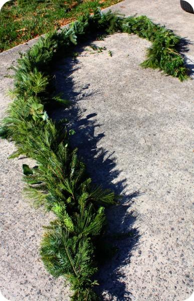 Craft Thyme evergreen garland