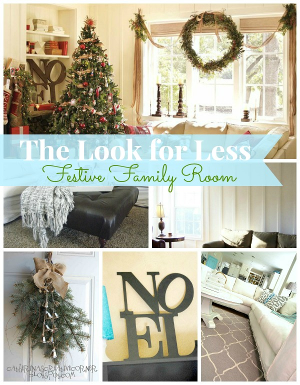 Festive Family Room collage