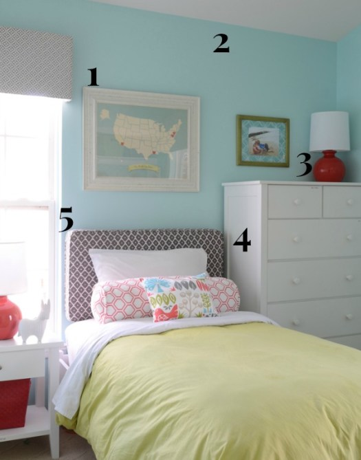 5 Ways to Get This Look:  Simple Shared Bedroom