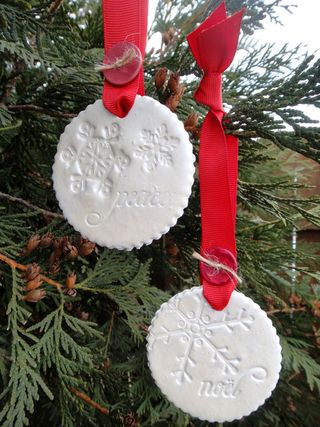 Pine is Here dough ornaments