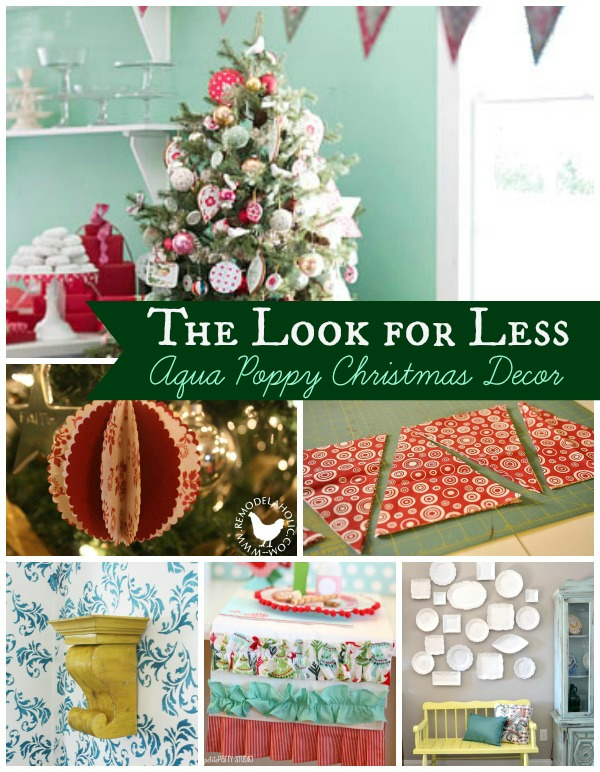 Aqua Poppy Christmas Collage with text