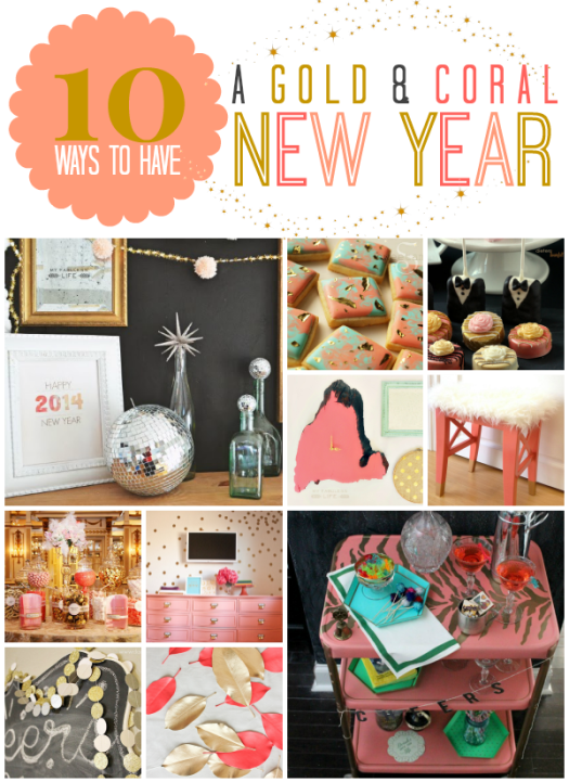 Coral and Gold New Year Party Inspiration