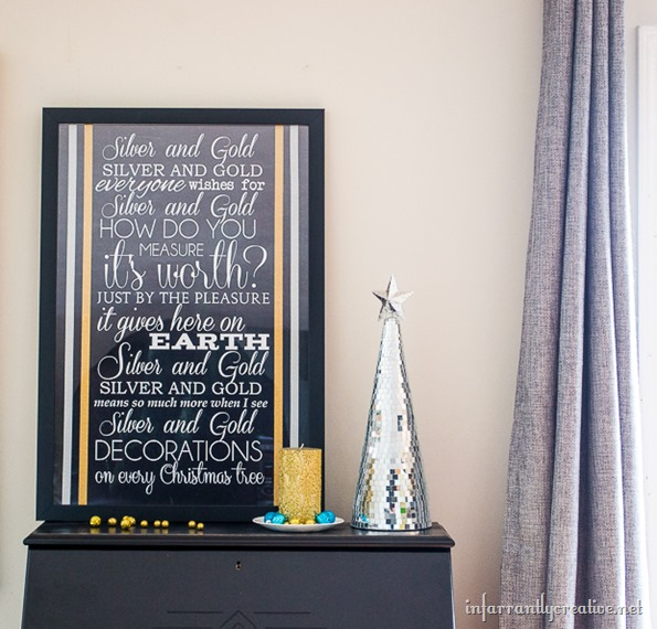 Silver and Gold song lyrics {Free Printable} | perfect printable for Christmas | #silverandgold #christmas #free #freeprintable #holiday