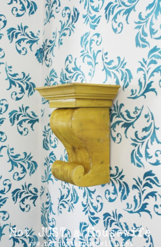 Not Just a Housewife corbel shelf tutorial