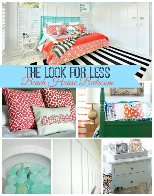 Beachy Bedroom Collage