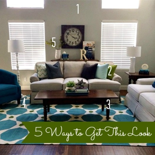 Camille Roskelley Simple Living Room with text