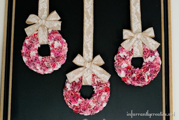 mini ruffle wreaths