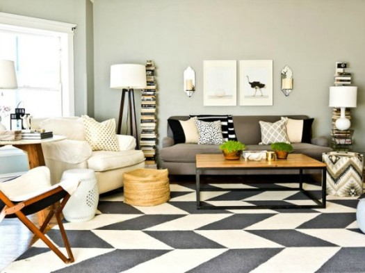 Houzz Modern Neutral Living Room
