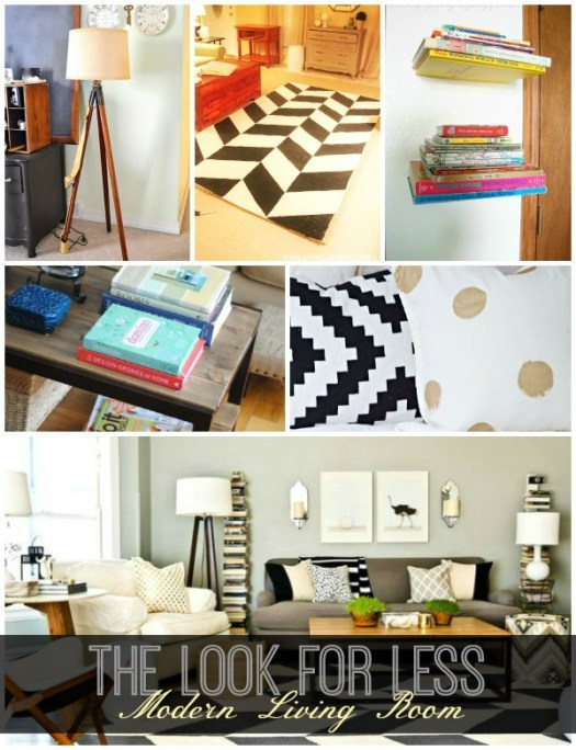 Modern living room collage