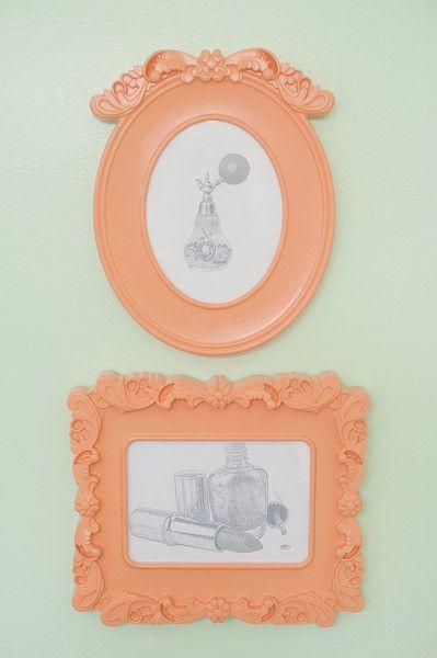 frames repainted coral