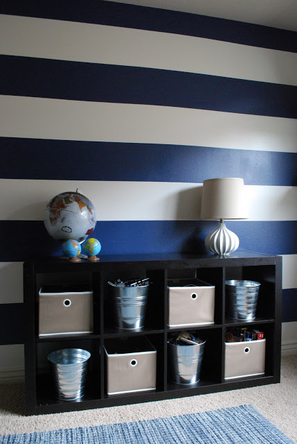 diy-navy-striped-walls