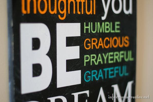 encouraging words custom sign