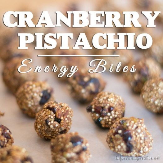 Healthy Cranberry Pistachio Energy Bites (43 calories each)