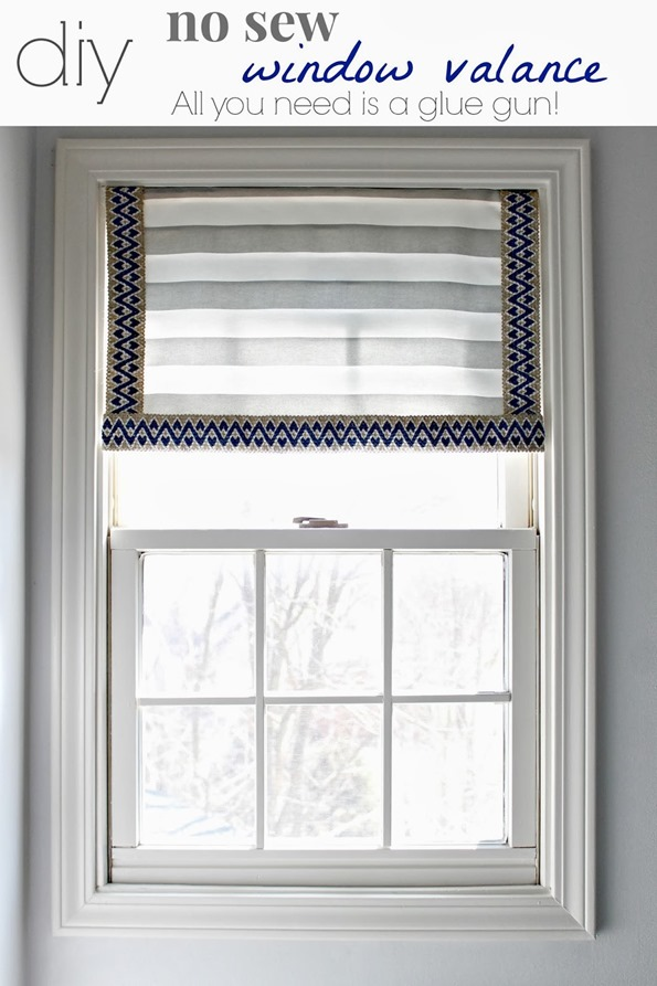 Diy No Sew Window Valance Infarrantly Creative