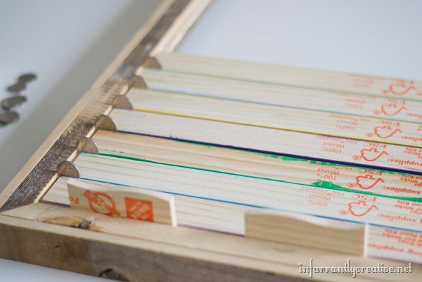 paint stick frame