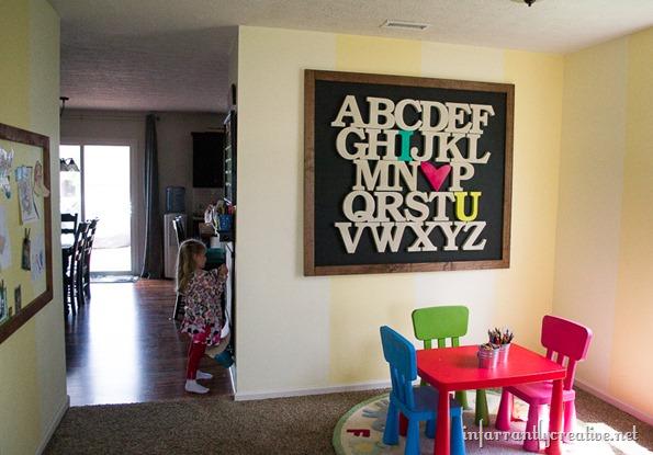 alphabet art sign