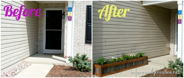 before and after planter box