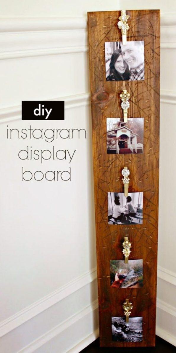 diy instagram display board