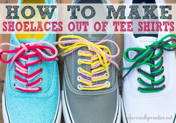 How to Make T-shirt Shoelaces by Infarrantly Creative