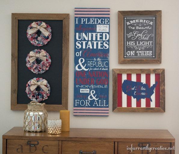 patriotic gallery wall