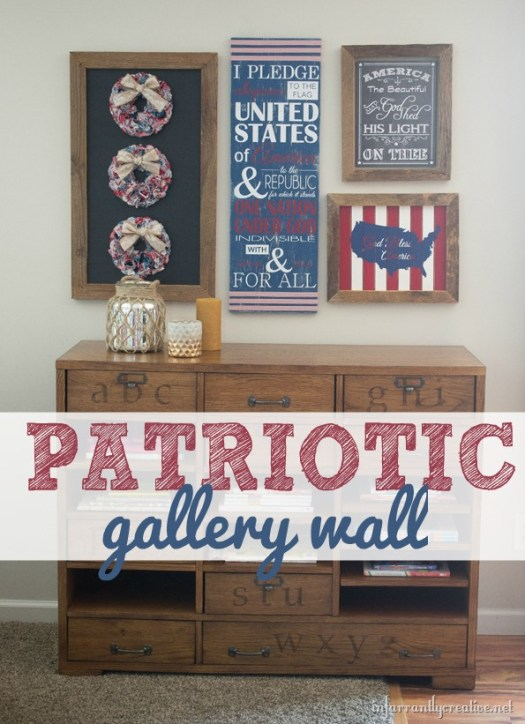 4th of July Decorations – My Red, White & Blue Gallery Wall