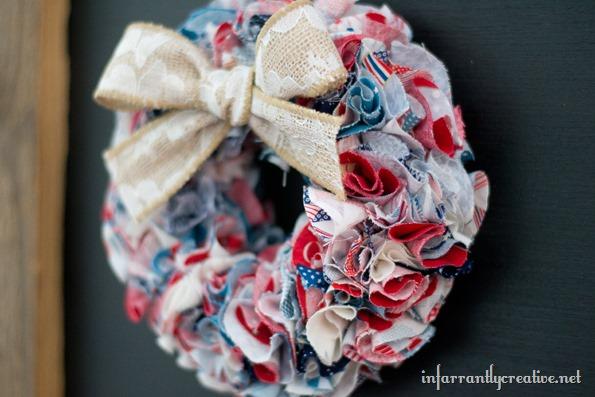 red white blue wreaths