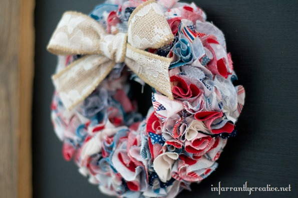red white blue wreaths