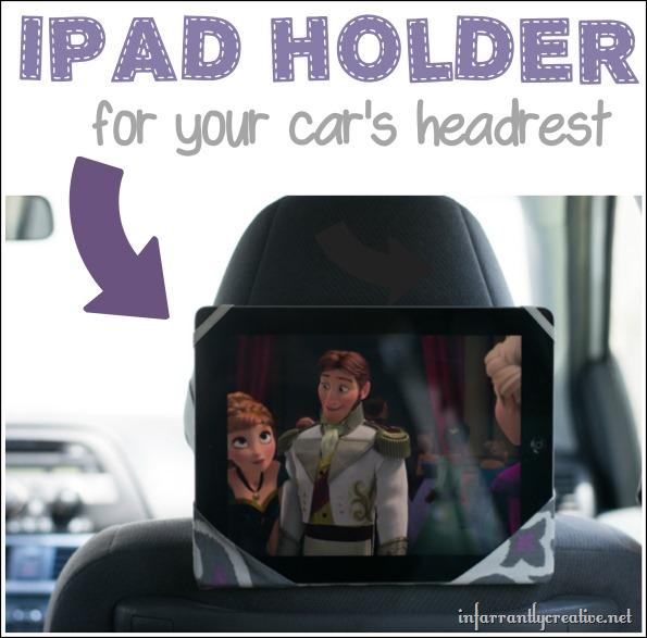 Ipad holder for your car's headrest