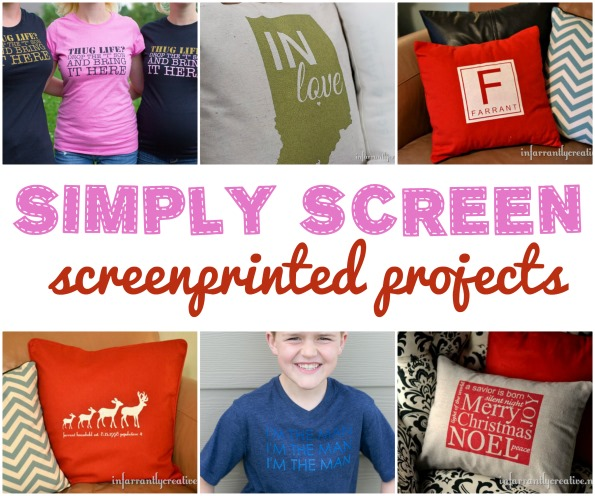 simply screen printed projects