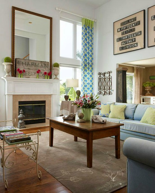 High Ceiling Decorating Ideas: 5 Ways To Get This Look: High Ceiling Living Room