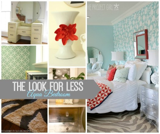 Aqua Bedroom Look for Less