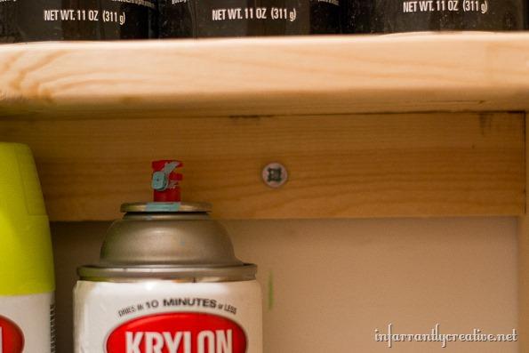 how to build a shelf for spray paint